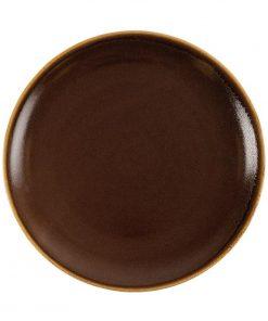 Olympia Kiln Round Plate Bark 280mm