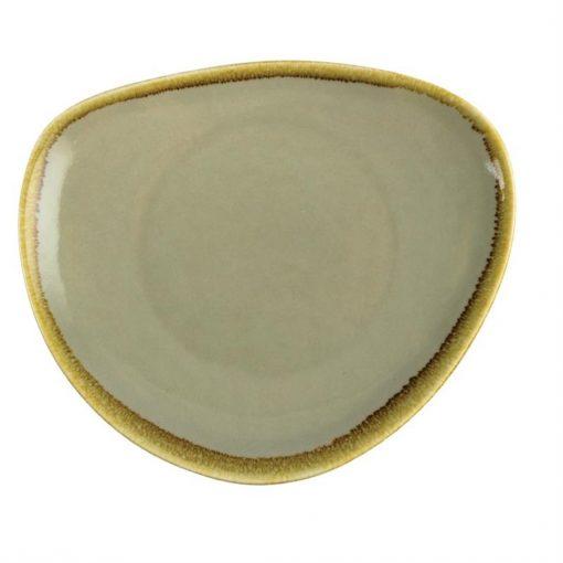 Olympia Kiln Triangular Plate Moss 230mm