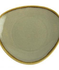 Olympia Kiln Triangular Plate Moss 280mm