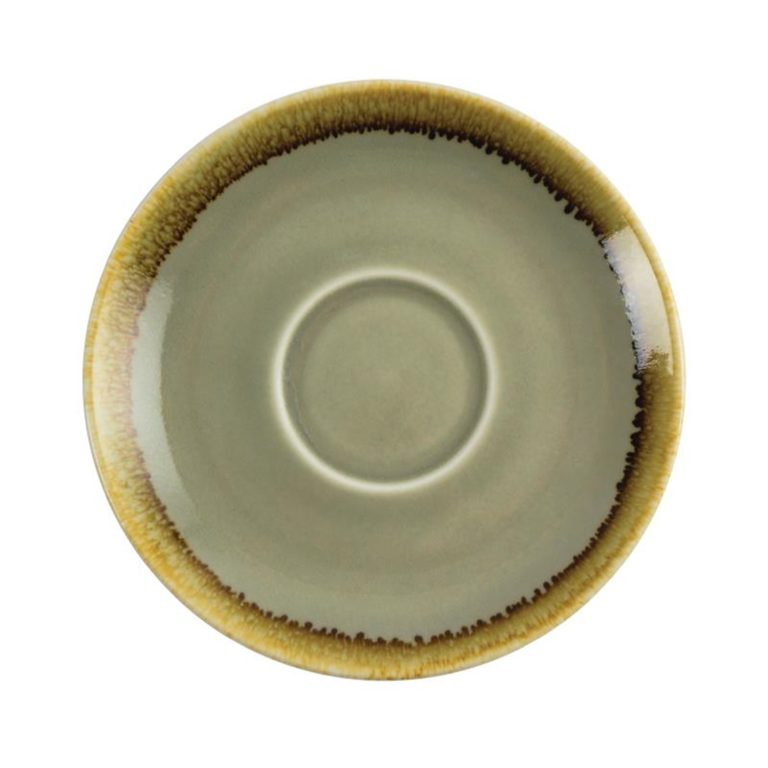 Olympia Kiln Cappuccino Saucer Moss 140mm
