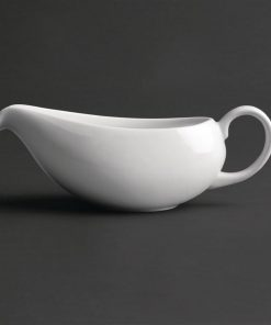 Royal Porcelain Classic White Gravy Boat 380ml