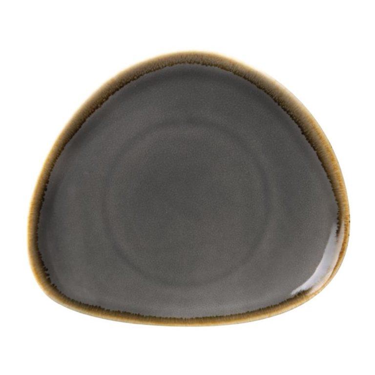 Olympia Kiln Triangular Plate Smoke 165mm