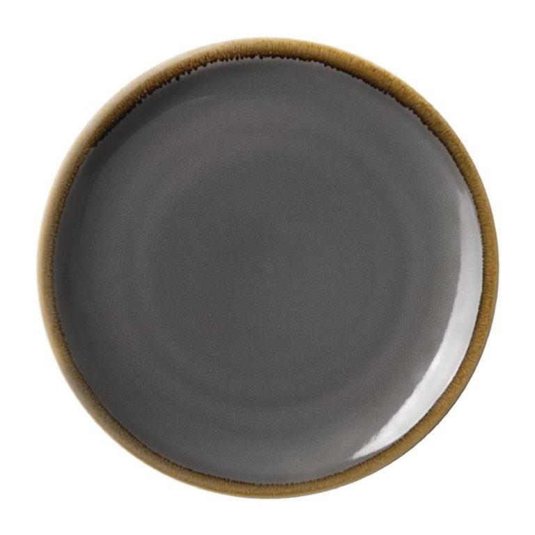 Olympia Kiln Round Coupe Plate Smoke 280mm