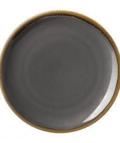 Olympia Kiln Round Coupe Plate Smoke 230mm
