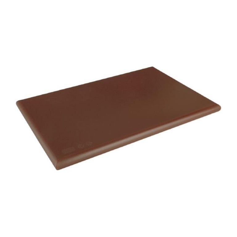 Hygiplas Extra Thick High Density Brown Chopping Board Standard