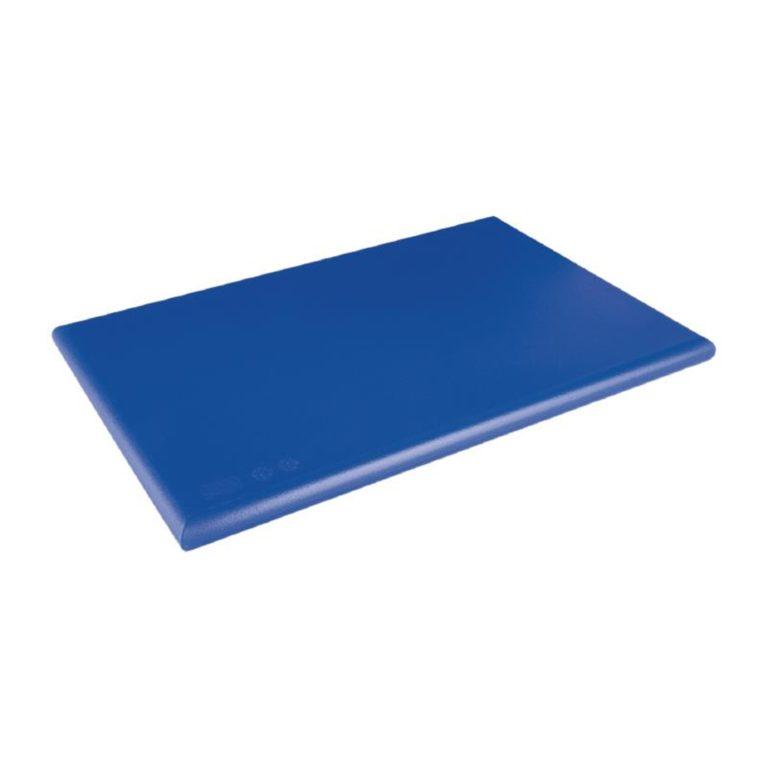 Hygiplas Extra Thick High Density Blue Chopping Board Large