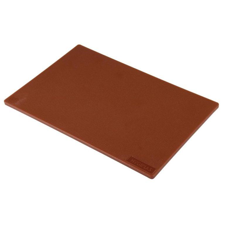 Hygiplas Low Density Brown Chopping Board Standard