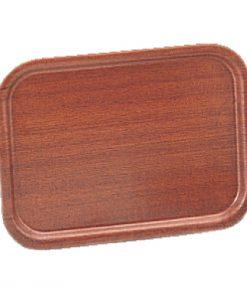 Olympia Mahogany Veneer Wooden Tray 12.5 x 9.5 in