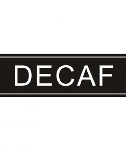 Adhesive Airpot Label - Decaf
