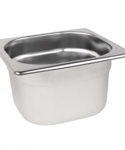 Vogue Stainless Steel 1/6 Gastronorm Pan 100mm