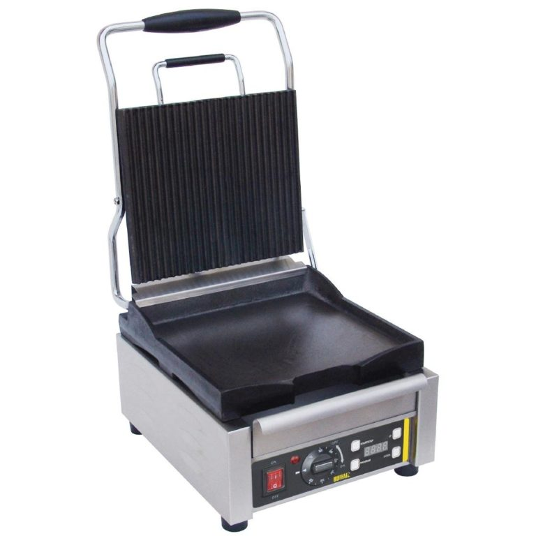 Buffalo Single Contact Grill Ribbed Top