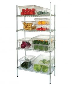 Vogue 4 Tier Wire Shelving Kit 1525x460mm
