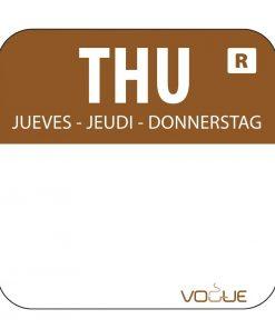 Vogue Removable Colour Coded Food Labels Thursday