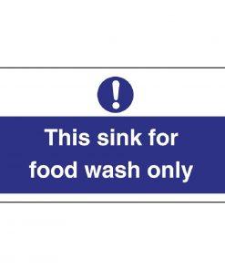 Vogue Food Wash Only Sign