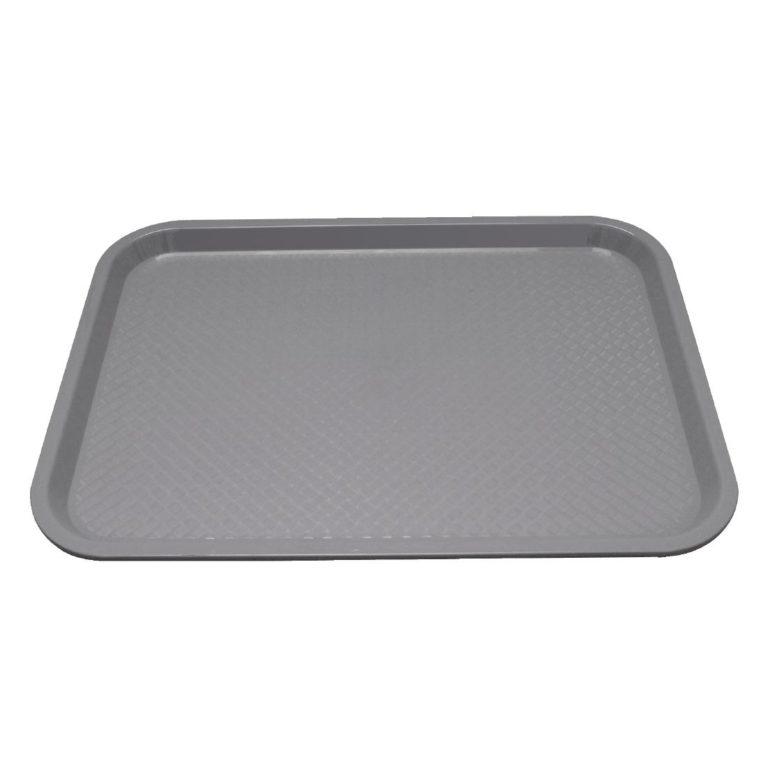 Kristallon Plastic Fast Food Tray Grey Medium