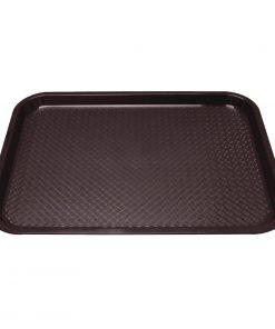 Kristallon Plastic Fast Food Tray Brown Medium