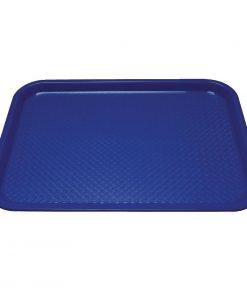 Kristallon Plastic Fast Food Tray Blue Medium