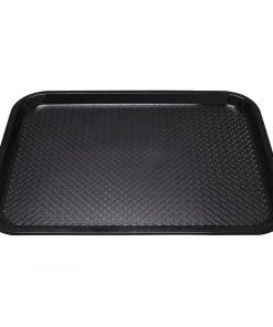 Kristallon Plastic Fast Food Tray Black Large