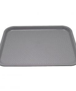 Kristallon Plastic Fast Food Tray Grey Large