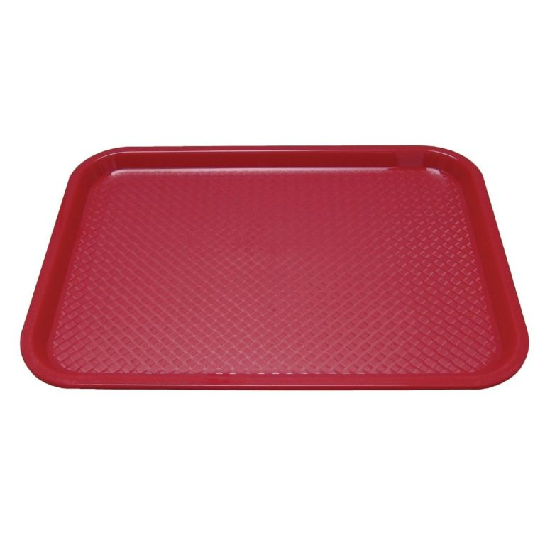 Kristallon Plastic Fast Food Tray Red Large