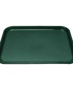 Kristallon Plastic Fast Food Tray Green Large