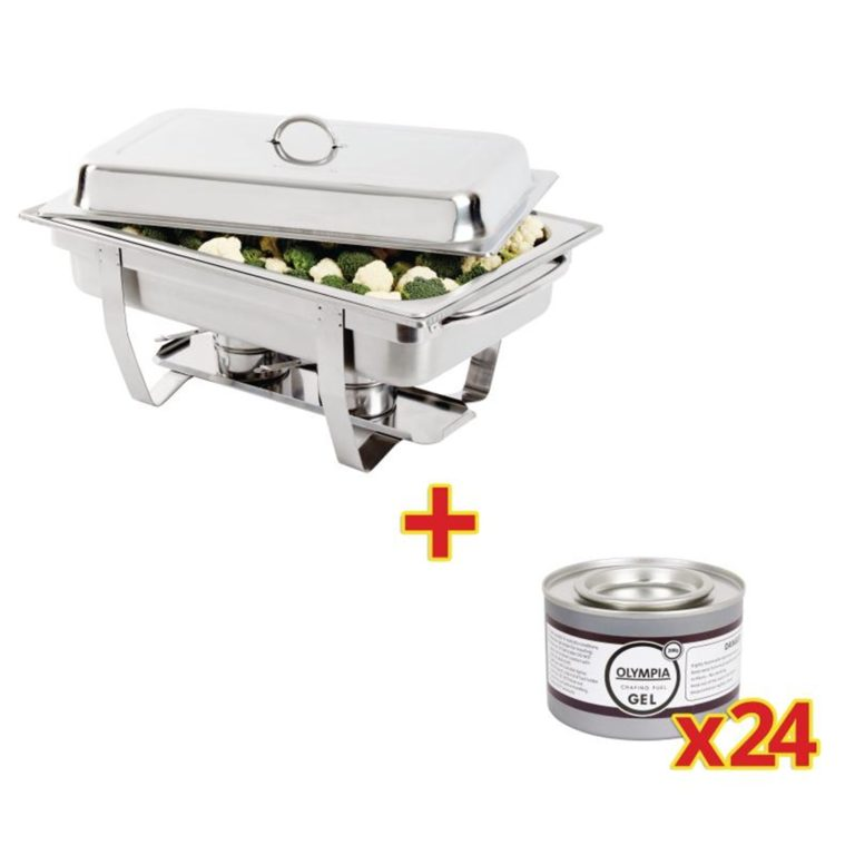 Special Offer Milan Chafer Set And 24 Olympia Chafing Gel Fuel Tins
