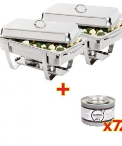 Special Offer 2x Milan Chafer and 72 Olympia Gel Fuel Tins