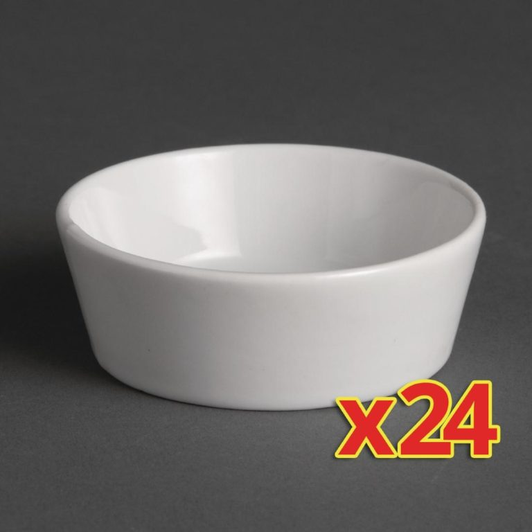 Bulk Buy Pack of 24 Olympia Miniature Circle Dishes