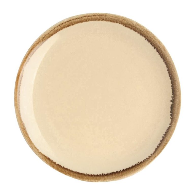 Olympia Kiln Round Coupe Plate Sandstone 230mm