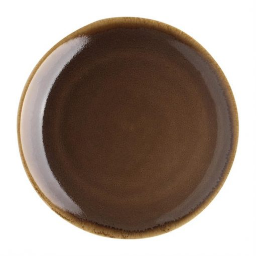 Olympia Kiln Round Coupe Plate Bark 230mm