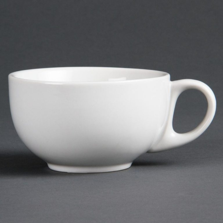 Bulk Buy Pack of 36 Olympia Whiteware Cappuccino Cups 284ml 10oz