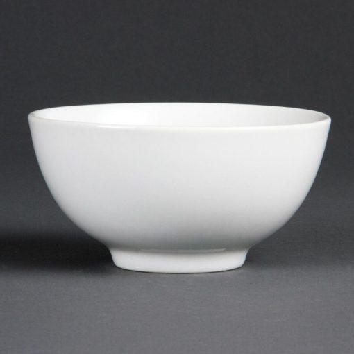 Bulk Buy Pack of 24 Olympia Whiteware Rice Bowls 130mm