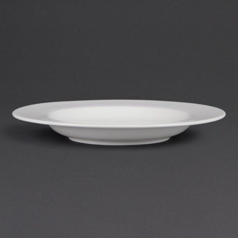Bulk Buy Pack of 12 Olympia Whiteware Pasta Plates 310mm