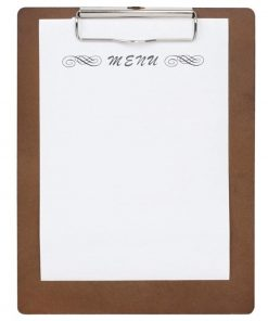 Special Offer Wooden Menu Presentation Clipboard A4 x10