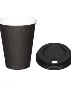 Special Offer  Fiesta Black 225ml Hot Cups and Black Lids