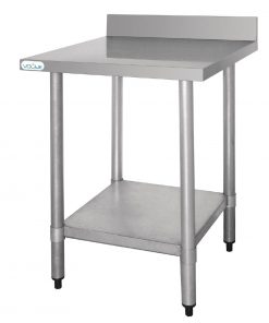 Vogue Stainless Steel Prep Table with Upstand 900mm