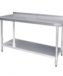 Vogue Stainless Steel Prep Table with Upstand 1500mm