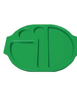 Kristallon Plastic Food Compartment Tray Large Green