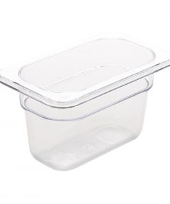 Vogue Polycarbonate 1/9 Gastronorm Container 100mm Clear