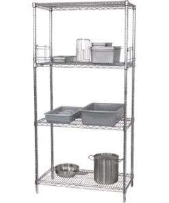 Vogue 4 Tier Wire Shelving Kit 915x610mm