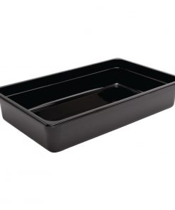 Vogue Polycarbonate 1/1 Gastronorm Container 100mm Black