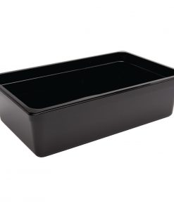 Vogue Polycarbonate 1/1 Gastronorm Container 150mm Black