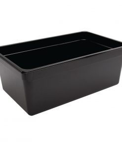 Vogue Polycarbonate 1/1 Gastronorm Container 200mm Black