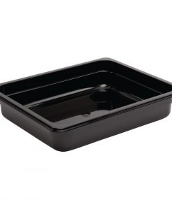 Vogue Polycarbonate 1/2 Gastronorm Container 65mm Black