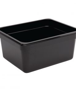Vogue Polycarbonate 1/2 Gastronorm Container 150mm Black