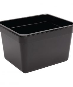 Vogue Polycarbonate 1/2 Gastronorm Container 200mm Black