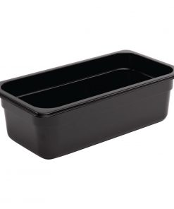 Vogue Polycarbonate 1/3 Gastronorm Container 100mm Black