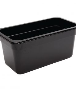 Vogue Polycarbonate 1/3 Gastronorm Container 150mm Black