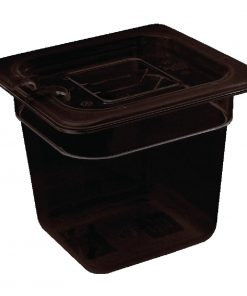 Vogue Polycarbonate 1/6 Gastronorm Container 65mm Black