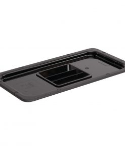 Vogue Polycarbonate 1/3 Gastronorm Lid Black